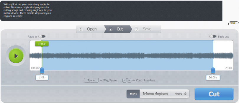 cut audio online