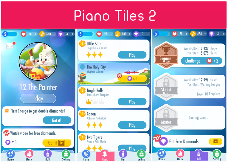 Piano Tiles 2 app